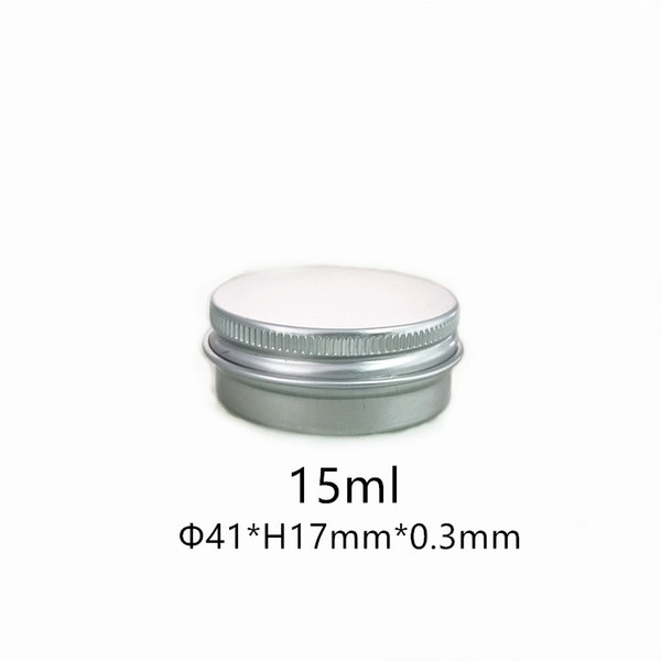 100 Pack Tin Cans Screw Top Round Metal Lip Balm Tins Containers 15 ml screw top cosmetic tin