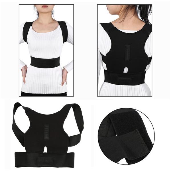 Posture Adjustable Corrector Back Spine Support Brace Belt Shoulder Lumbar Correction Bandage Corset For Men Women Top Clothes