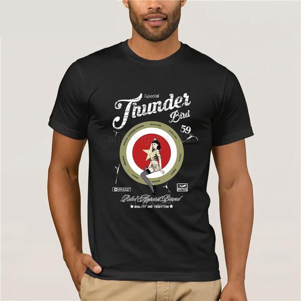 2019 manches courtes en coton Vêtements homme Bomb Solide Couleur Flieger Thunderbird Bombshell USA Armée T-shirts Nouveau style d'été