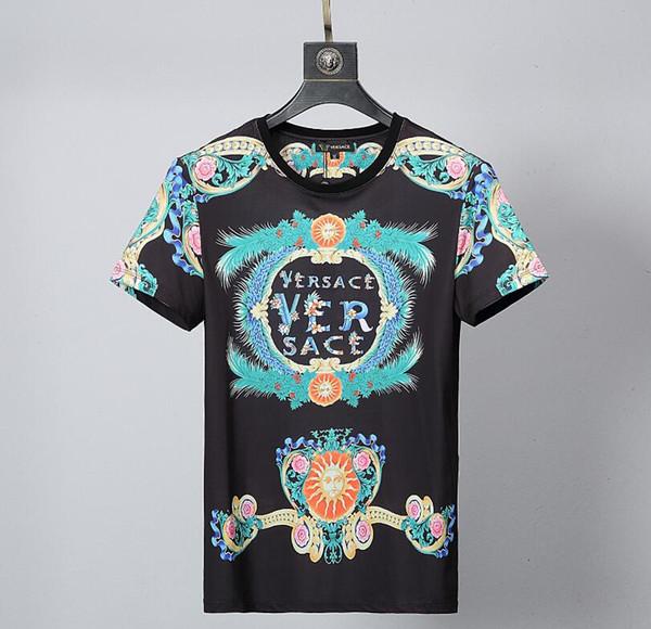 2019 europeus e americanos outono moda camisetas dos homens t-shirts gola  redonda manga longa 8d944a0279025