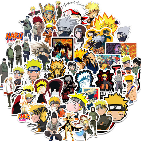 top popular 50 pcs Pack Mixed Anime Car Stickers For Laptop Skateboard Pad Bicycle Motorcycle PS4 Phone Luggage Decal Pvc guitar refrigerator Stickers 2021