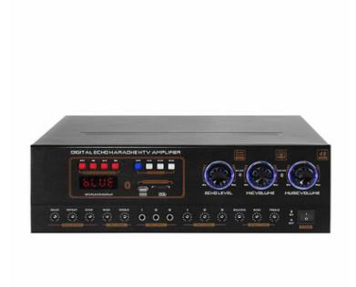 Wireless Bluetooth Power Amplifier System 350W Dual Channel Sound Audio Stereo Receiver w/ USB SD AUX MIC IN Echo Radio LCD For Theater