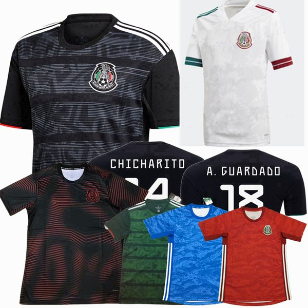 Top 2019 2020 2021 México fútbol camisetas del equipo nacional RAUL H.LOZANO CHICHARITO portero 19 20 hombres y mujeres de fútbol camisa femenina S-2XL