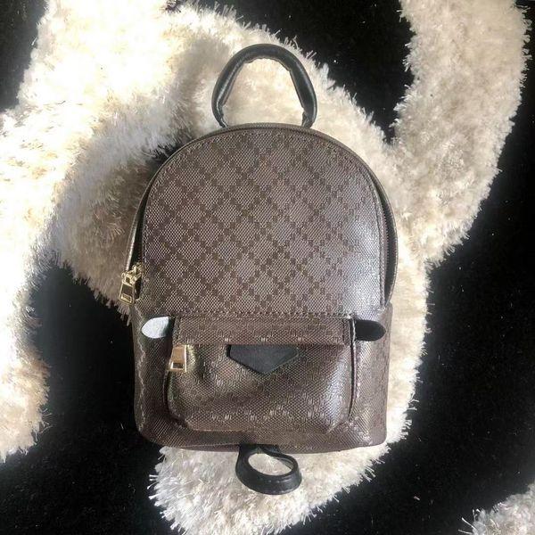 top popular Mini Backpack for women leather fashion back pack shoulder bag handbag presbyopic palm spring mini backpack messenger bag phone purse 2020