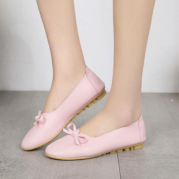 2018 nouvelles chaussures pour femmes mocassins occasionnels femme cuir glissement sur chaussures dames infirmière chaussures pour femmes