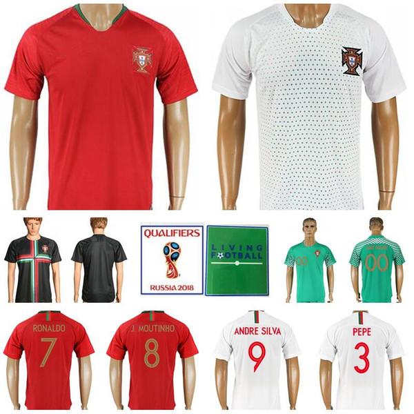brand new 60dd9 88e0a 2019 2018 World Cup Portugal Soccer Jerseys Man Camisa De Futebol 7  Cristiano Ronaldo 9 ANDRE SILVA 8 MOUTINHO 2 ALVES 3 PEPE Football Shirt  Kits From ...