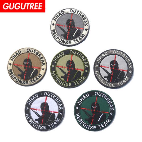 Les broderies jehad de patchs GUGUTREE HOOkLOOP sont des patchs militaires ainsi que des patchs appliqués pour vêtements SP-569
