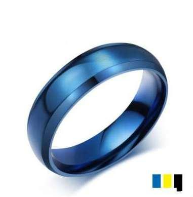 Blau Titan Stahl Masculine Goldringe Bling Schmuck Weinlese heißen Entwurf für Geschenke hochwertigen Groß