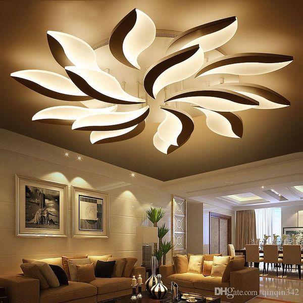 Luci di soffitto acrilica principali moderne per soggiorno di studio da letto lampe plafond Avize Lampada da soffitto coperto