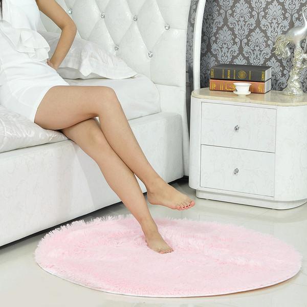 Площадь ковры Фабрика циновки прямые оптовые шелковые волосы круглый ковер коврик висит корзина компьютерный стул йога может быть настроена 100см