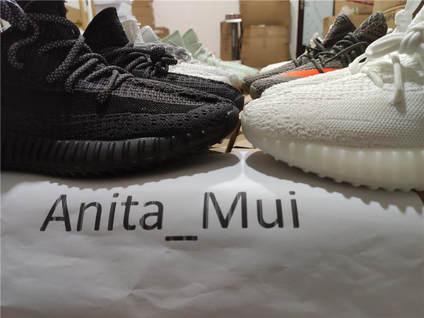 top popular Newest Kanye West Citrin Reflective Black Static Citrin Men Running Shoes Antlia Lundmark Synth GID Clay True Form Cream Women Sneakers 2019