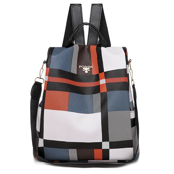 Backpack Trends 2020.2019 2020 Simple Women British Style Pu Leather Plaid Trend Scho Bag Korean Fashion Oxford Backpack Waterproof Anti Theft Outdoor Travel Backpack From