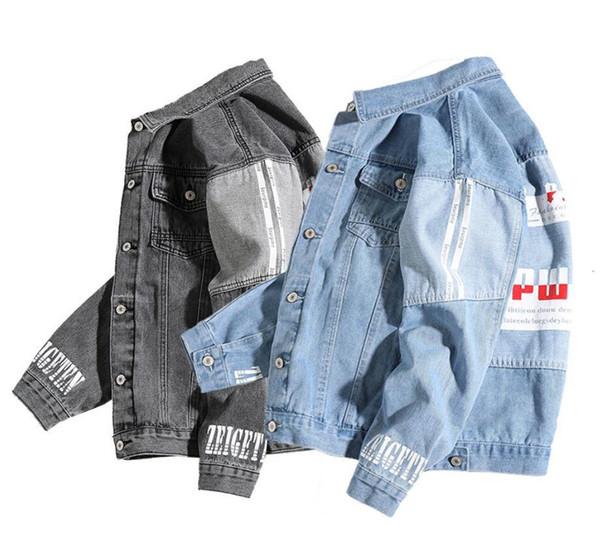 Livraison gratuite Veste designe hommes nouveaux manteau sport marque hip hop streetwear streetwear manteaux amant Denim vestes Jaqueta Masculina tops Jean