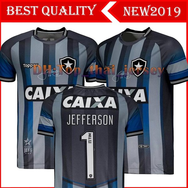 19/20 Jerseys de fútbol de la edición conmemorativa de Botafogo 2019 Botafogo Home Gray # 1 JEFFERSON Retro Special Goalkeeper Football Shirt uniform