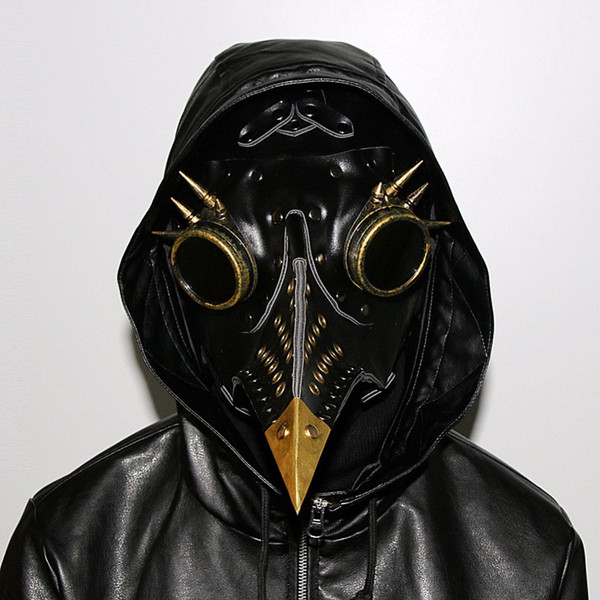 2019new Steampunk PlagueDoctor mask long nose bird PU face mask full Anime Cosplay Bar dancing stage performance props