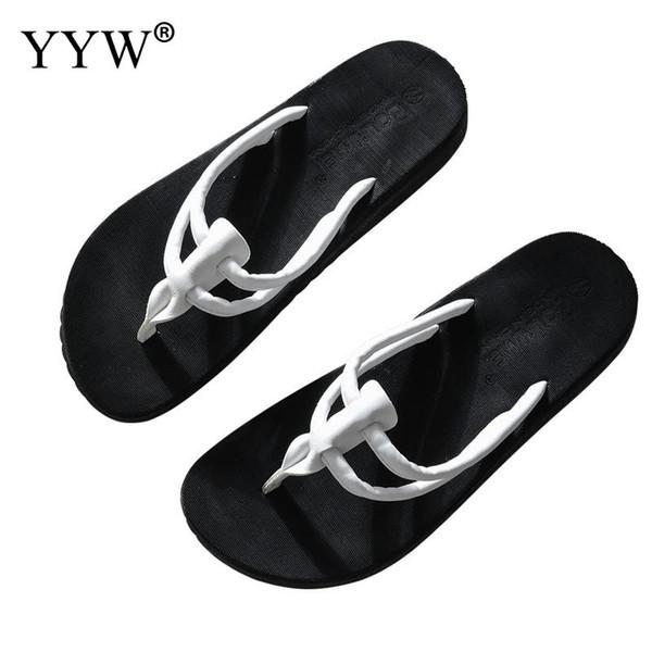 Verão Novos Homens Flip Flops de Alta Qualidade Pvc Confortável Deslizamento Ao Ar Livre Na Praia Sapatos Para Moda Masculina Preto Branco chinelos