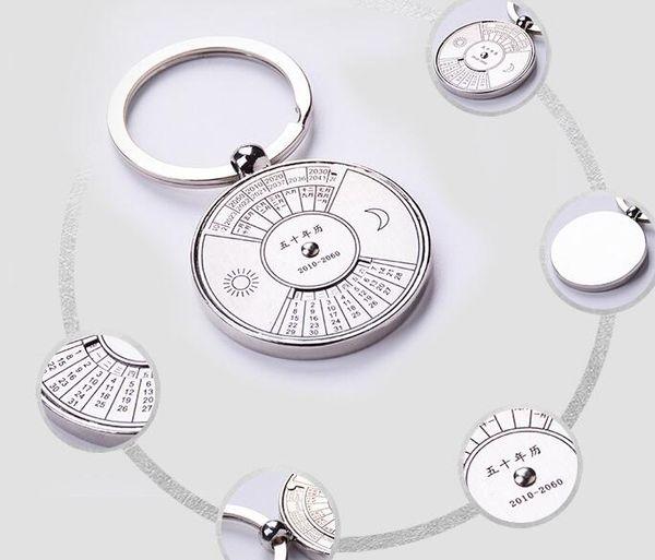 best selling Perpetual calendar Rotating Calendar Creative Advertising Gift 2010-2060 37*37*4mm