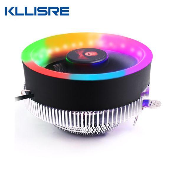 Kllisre PC CPU Cooler Fan Disipador de calor LED Aperture CPU Cooling Fan Radiador silencioso para Intel 775/1155/1150/1151 AM3 AM3 +