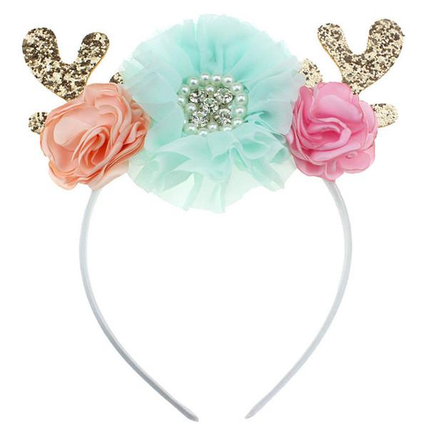 Diseñador floral del bebé princesa niñas princesa niñas del diseñador vendas del bebé niños palos de pelo bebé niña diademas accesorios para el cabello A4436