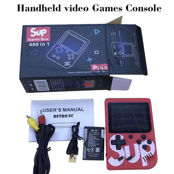 SUP Handheld Video Game Console Portátil Retro 8 bit FC MODELO PARA FC 400 em 1 AV JOGOS Color Game Jogador Presente para as crianças do que PVP PXP3 Notícias