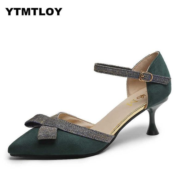 99d8fdc2437 Shoes Women Pumps Mid Heel Pump Ladies Pointed Toe Casual Sandals High  Heels Wedding Sexy Pumps Butterfly Knot Summer Walking Shoes Flat Shoes  From ...