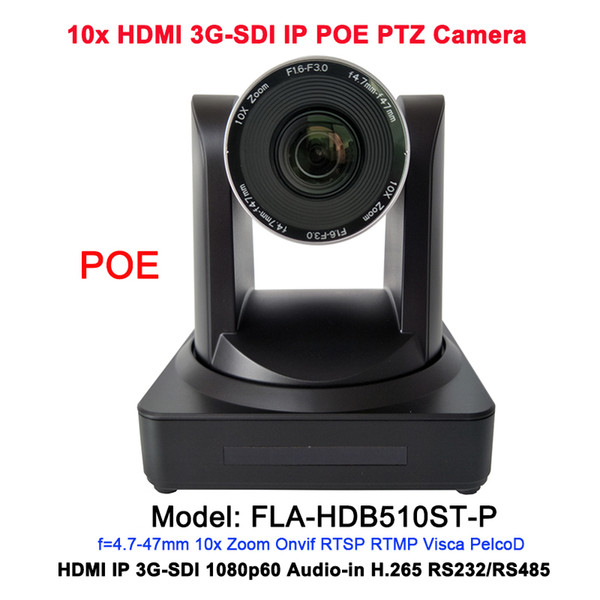 2MP HD 10x optical zoom HDMI IP Live Stream camera POE with 3G-SDI / RJ45 output video conferencing