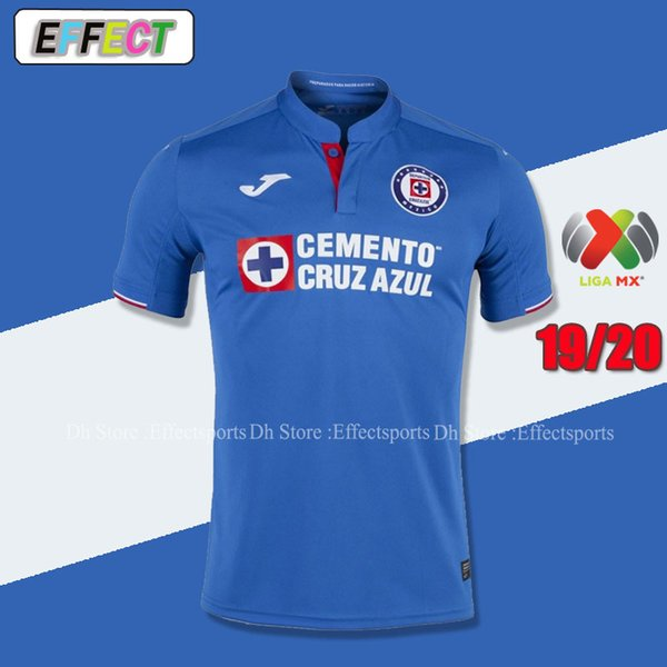 Neu eingetroffen 2019 2020 Mexico Club Cruz Azul Liga MX-Trikots 19/20 Home Blue Away Weiße Fußballshirts camisetas de futbol