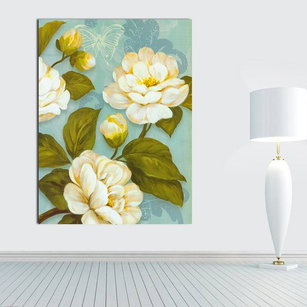 1 Piece Art Modern Abstract Flower Spray Oil Painting Canvas Floral Picture Print Wall Hangings Home Decor NO Frame