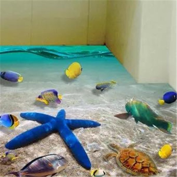 3D PVC Starfish Floor Decals Sticker Wall Removable Vivid Room Decoration