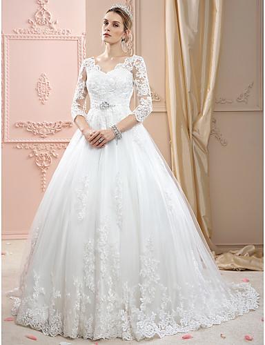 2019 nouvelle dentelle de haute qualité, impression, cristal embelli robe de mariée robe de mariée robe de mariée lumière Robes De Mariee