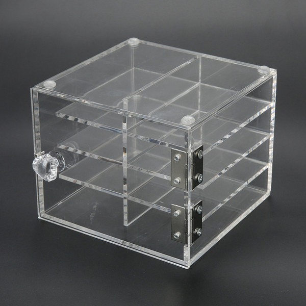 8 Layers False Eyelash Extension Carrying Box Acrylic Storage Box Makeup Cosmetic Case Jewelry Organizer for Earrings Display