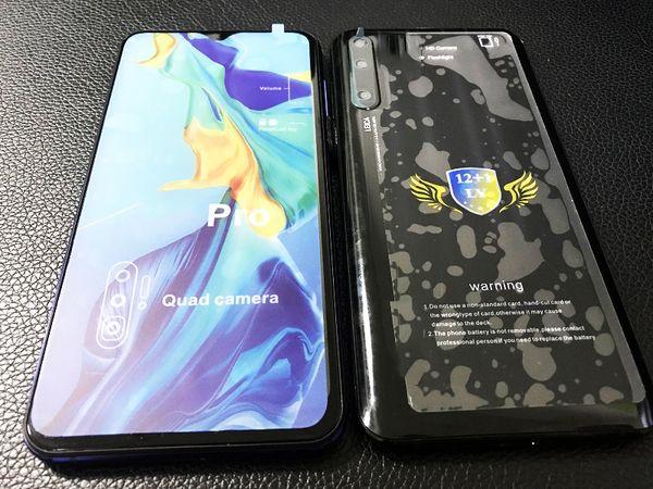 Goophone P30pro Smartphone 6,5 Zoll Handy 3G WCDMA Quad Core MTK6580 1 GB 4 GB Show Fake 4G LTE entsperrt versiegelte Box