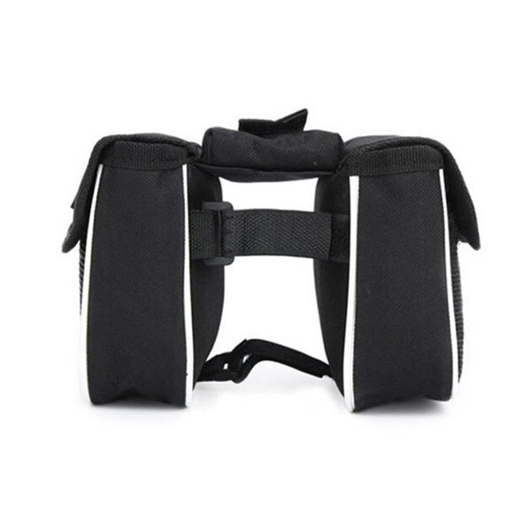 2019 Bicycle Mountain Bike Saddle Bag Cycling Front Frame Tube Handlebar Pannier Double Pouch Phone Bag with Reflective tapes