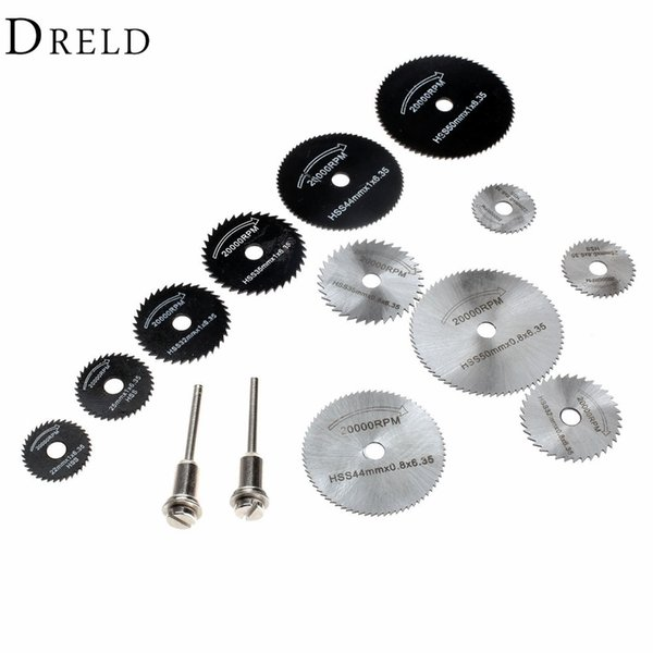 blade aircraft DRELD 14Pcs Dremel Accessories HSS Mini Circular Saw Blades Wood Cutting Disc Grinding Wheel Set for Rotary Woodworking Tools