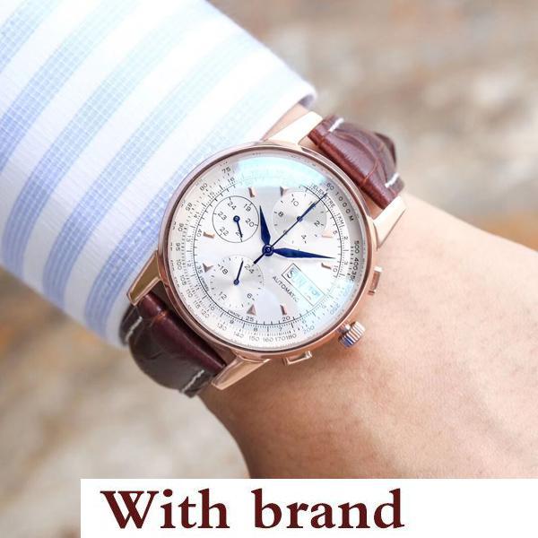 Designer Luxus Herrenuhren Echtlederarmband Mode Mann Armbanduhr Automatikuhr Casual Business Herrenuhren
