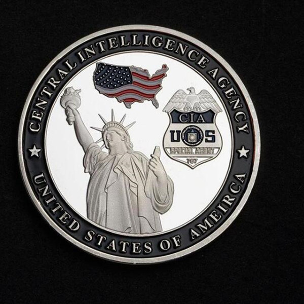 100 pcs The Silent Warrior guard coin bald eagle freedom silver plated 40 mm badge collectible home decoration souvenir coin