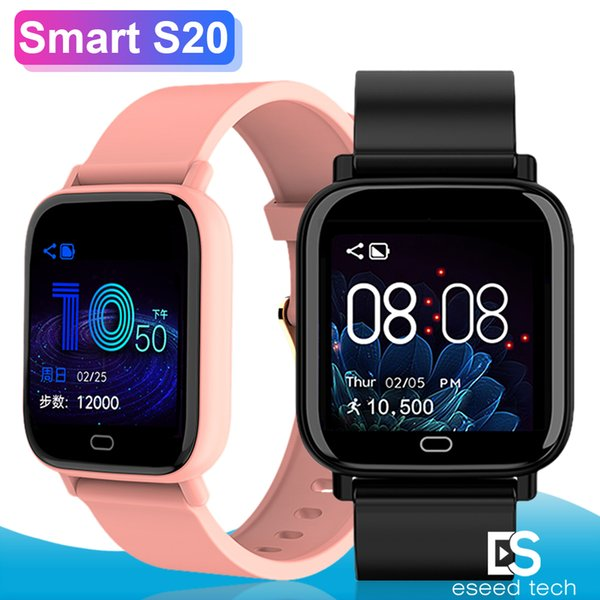 S20 Smart Watch Bracelet Smartwatches 1.3 Inch Screen Waterproof Heart Rate Remote Photograph Bluetooth Wristwatch For iPhone Android