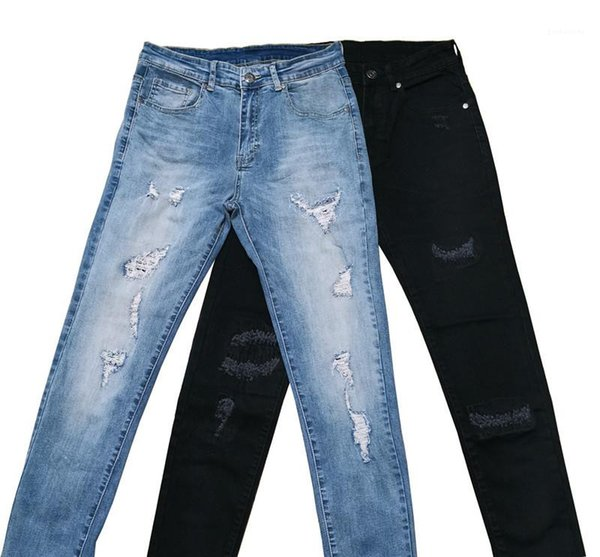 2020 Designer Mens Holes Jeans Skinny Pencil Pants Fashion Male Casual Washed Out Jeans Mens Clothing Fashion Mens Clothing Women Clothing Mens Jeans Pants Hoodies Hiphop ,Women Dress ,Suits Tracksuits,Ladies Tracksuits Welcome to our Store