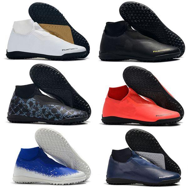 2019 Nuevo Phantom Vision Academy Df Ic Tf Vsn Hombres Zapatillas de fútbol con tobillo en el interior Botines Zapatos de fútbol