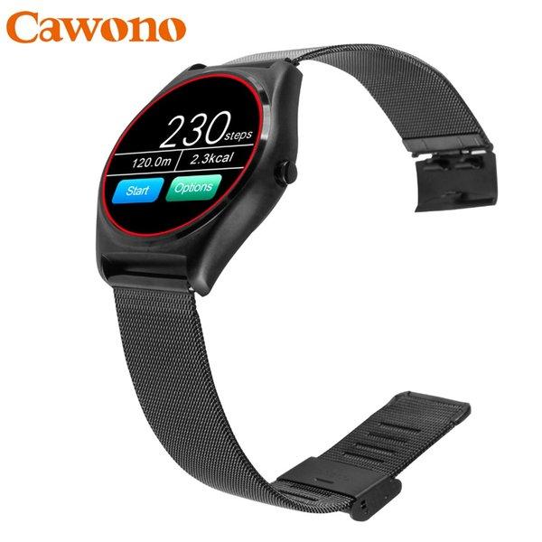 Cawono N3 Kayış Değiştirme Akıllı İzle Kablosuz Şarj Relogio Android IOS Android için PK DZ09 Nabız Smartwatch