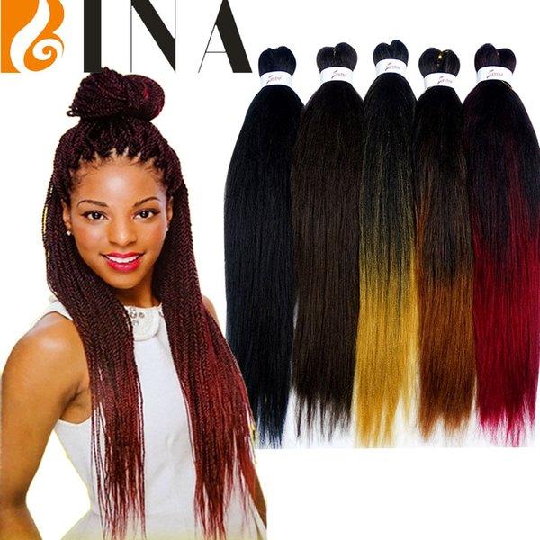 Ezbraid Xpression плетение наращивание волос 26 дюймов синтетические волосы яки супер слон косы легкая коса сделать коробку твист косы