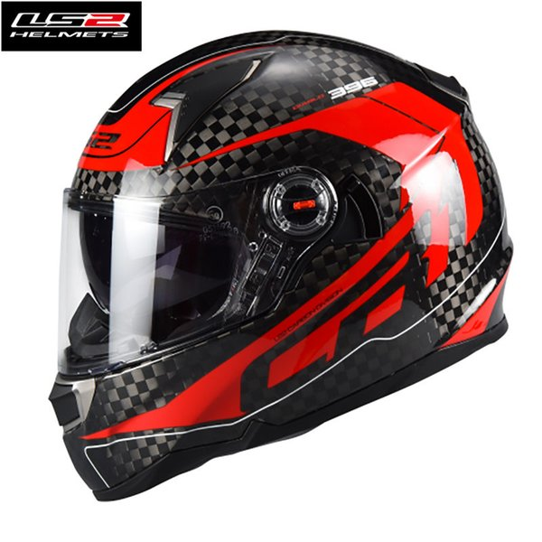 Ls2 Ff396 12kcarbon Fiber Helmet Full Face Motorcycle Helmet With Double Visor Racing Motocross Casque Casco Capacetes Womens Motorcycle Helmets