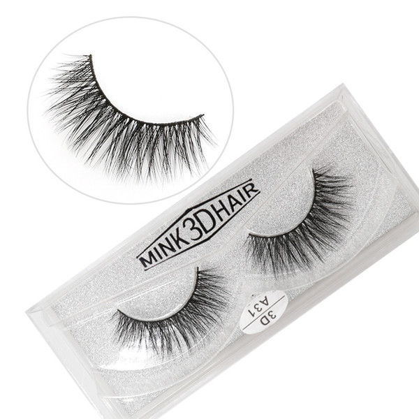 A31 3D A series 100% Real mink Eye Lashes Thick false Eyelashes a pair of false eyelashes with Crystal box