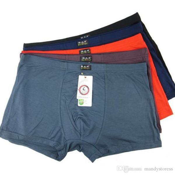 5PCS/lot Top Quality Boxers Bamboo Underwear Male Underwear Box Plus Big Size XL-- 6XL Free Shipping