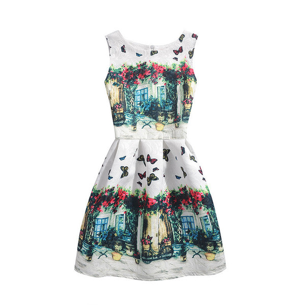 2019 Fashion Summer Mother Daughter Dress Party Print Butterfly Mom Girls Dresses Family Matching Outfits Mommy And Me Clothes