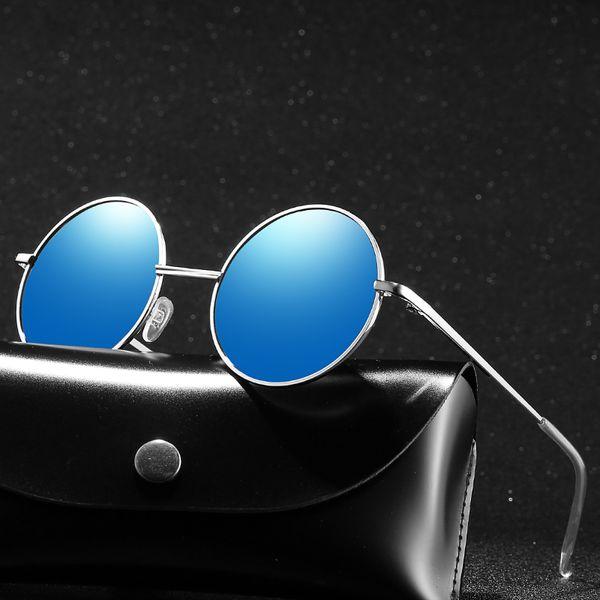 Marca de Moda Unisex Polarized Sunglasses Coating Espelho Condução Polaroid óculos de Sol Redonda Masculino Eyewear Para Mulheres Dos Homens