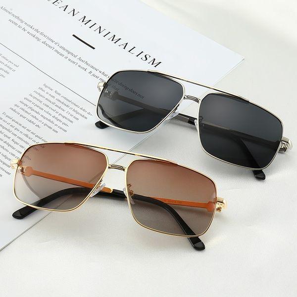 CARTIER 0125 Lentes polarizadas Diseñador de moda Moda Nuevos Hombres Mujeres Gafas de sol Protección UV Deporte Vintage Gafas de sol Gafas retro Con estuche