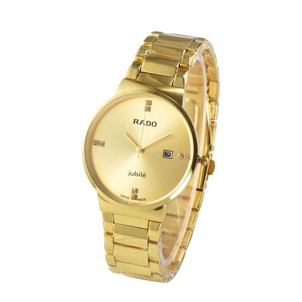 56c6a4ef6af Compre Moda De Luxo Da Marca Suíça Mulheres Mens Relógios Pulseiras De Aço  Inoxidável De Quartzo Relógios De Pulso Presente De Natal Para O Homem De  ...