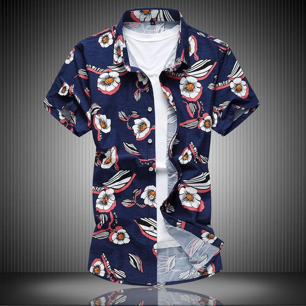Diseñador para hombre camisetas tamaño europeo boutique de verano nuevo estilo de manga corta y grasa extra grande camisa de flores de grasa spot 6xl