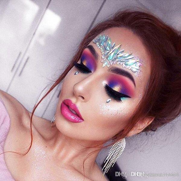 Bikini Decoration Rhinestone Glitter Tattoo Stickers Face Jewels Gems Festival Party Makeup Body Jewels Flash Fake Temporary Tattoos